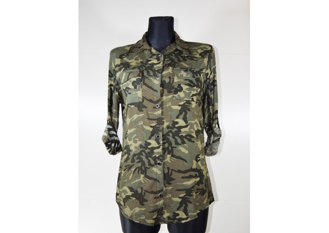 Moteriški kamufliažiniai marškiniai
