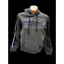 Moteriškas džemperis su gobtuvu tamsiai pilkas, Undisclosed