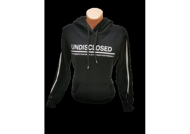 Moteriškas džemperis su gobtuvu juodas, Undisclosed