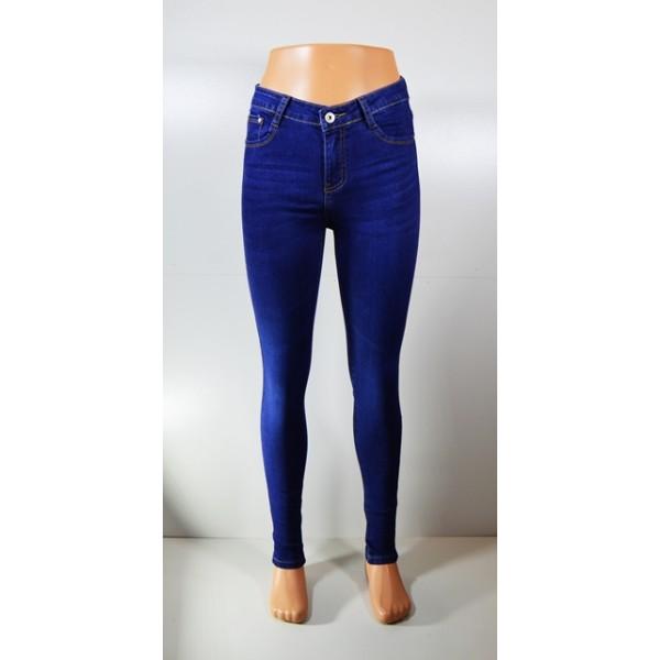"""Moteriški džinsai """"DARK BLUE"""" aukštu liemeniu"""