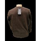 Vyriškas megztinis rudas CLUB JU