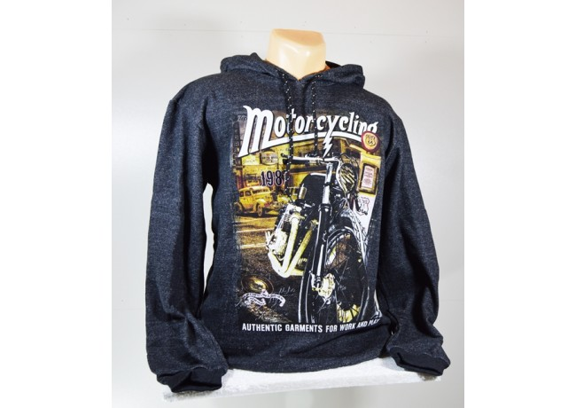 Vyriškas tamsiai pilkos spalvos džemperis su gobtuvu KING SPORT